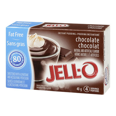 JELL-O Instant Pudding CHOCOLATE Fat Free