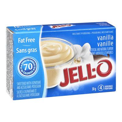 JELL-O Instant Pudding VANILLA Fat Free