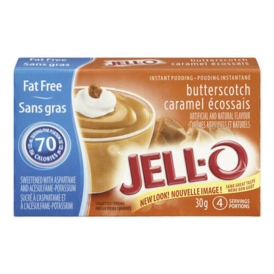 JELL-O Instant Pudding BUTTERSCOTCH Fat Free