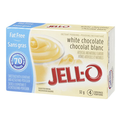 JELL-O FAT-FREE WHITE CHOCOLATE