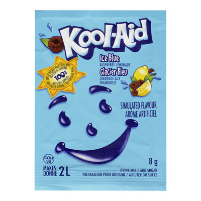 KOOL-AID 8 GR SOFT DRINK-POWDERED  ICE BLUE RASPBERRY LEMONADE     1 ENVELOPE EACH