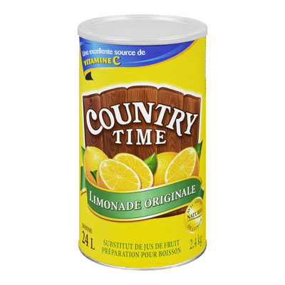 COUNTRY TIME 2.4 KG SOFT DRINK-POWDERED SUGAR SWEETENED LEMONADE EACH