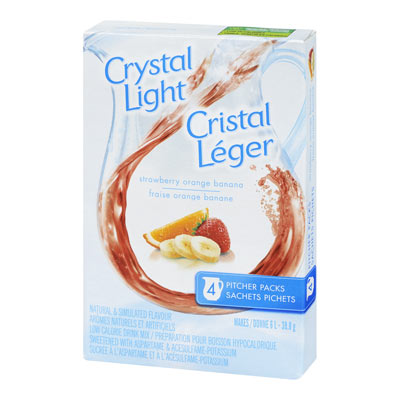CRYSTAL LIGHT MULTISERVE STRAWBERRY ORANGE BANANA