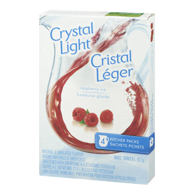 CRYSTAL LIGHT MULTISERVE RASPBERRY ICE