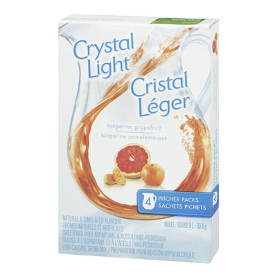 CRYSTAL LIGHT MULTISERVE TANGERINE GRAPEFRUIT