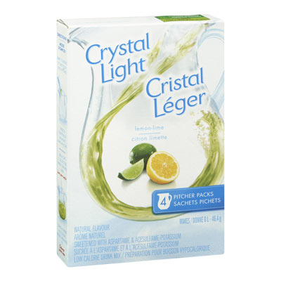 CRYSTAL LIGHT MULTISERVE LEMON LIME