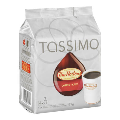 TASSIMO 123 GR TIM HORTONS T DISC CAPSULE COFFEE-GROUND  COFFEE     1 WRAPPER EACH