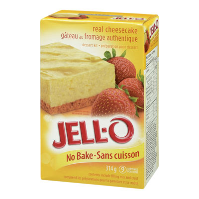 JELL-O Gâteau au fromage sans cuisson