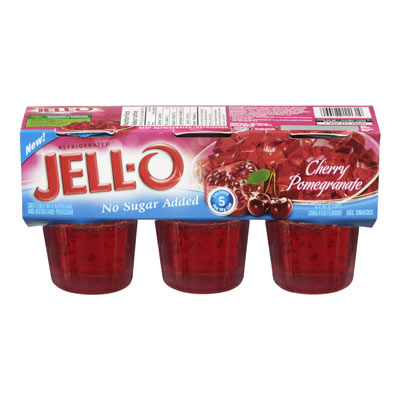 JELL-O Refrigerated Cherry-Pomegranate Gelatin Snacks