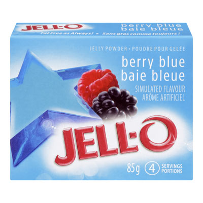 JELL-O Jelly Powder BERRY BLUE
