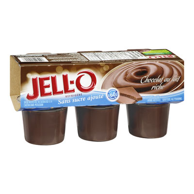 JELL-O Refrigerated No Sugar Added Rich Milk Chocolate Pudding Snacks
