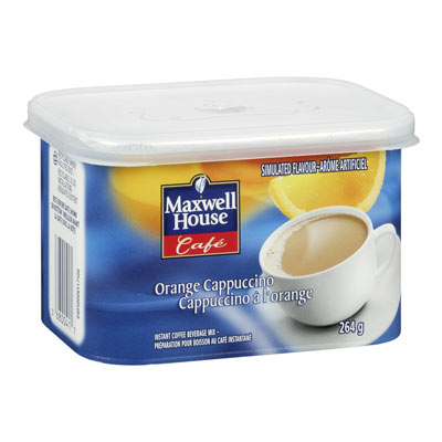 MAXWELL HOUSE Cafe Orange Cappuccino  Flavoured Instant Coffee