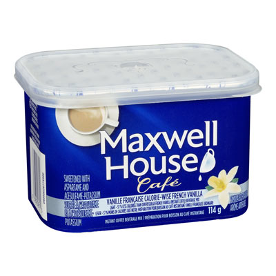 MAXWELL HOUSE Cafe CALORIE WISE French Vanilla  Flavoured Instant Coffee