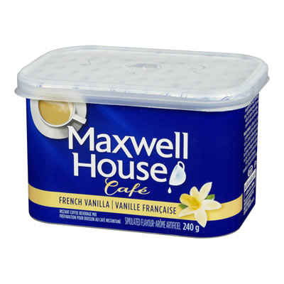 MAXWELL HOUSE Cafe French Vanilla  Flavoured Instant Coffee