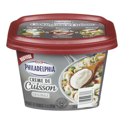 PHILADELPHIA 270 GR COOKING CREME  ORIGINAL     1 TUB EACH