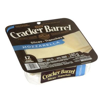 CRACKER BARREL Mozzarella Natural Cheese Slices