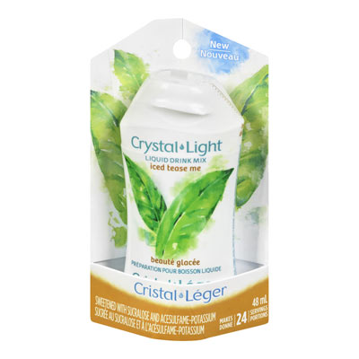 CRYSTAL LIGHT LIQUID DRINK MIX ICED TEASE ME