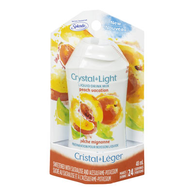 CRYSTAL LIGHT LIQUID DRINK MIX PEACH VACATION