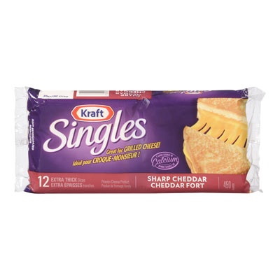 KRAFT SINGLES Tranches de fromage Cheddar fort
