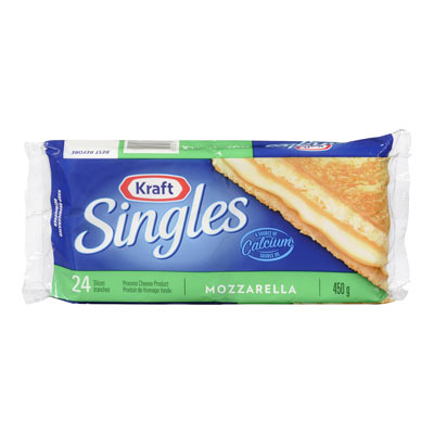 KRAFT SINGLES Tranches de fromage Mozzarella