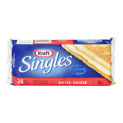 KRAFT SINGLES Swiss Cheese Slices