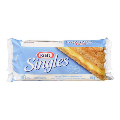 KRAFT SINGLES Light Cheese Slices