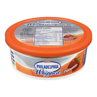 PHILADELPHIA 150 GR CREAM CHEESE-WHIPPED  PIMENTO     1 TUB EACH