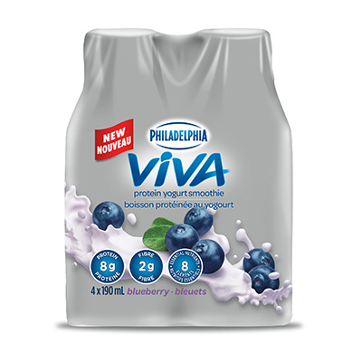 Philadelphia VIVA Protein Yogurt Smoothie Blueberry 4x190mL
