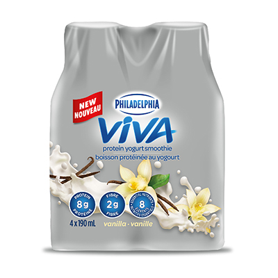 Philadelphia VIVA Protein Yogurt Smoothie Vanilla 4x190mL