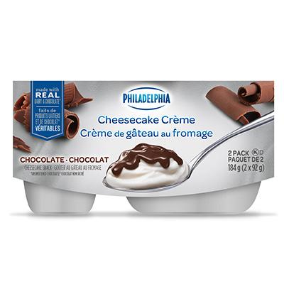 Crème de gâteau au fromage PHILADELPHIA Chocolat au lait 2x92g