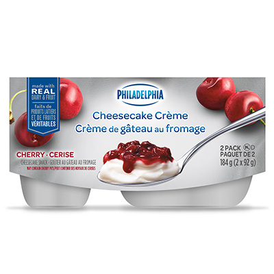 Crème de gâteau au fromage PHILADELPHIA Cerise 2x92g