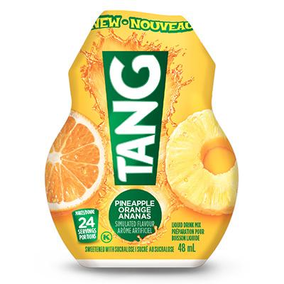 TANG Préparation pour boisson liquide Orange et ananas 48ml