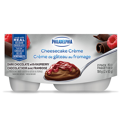 Philadelphia Cheesecake Crème Dark Chocolate with Raspberry 2x92g