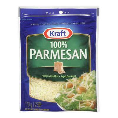 KRAFT 170 GR NATURAL CHEESE-SHREDS  PARMESAN     1  EACH