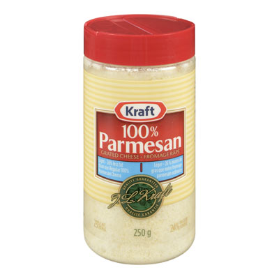 KRAFT Light 100% Parmesan Grated Cheese