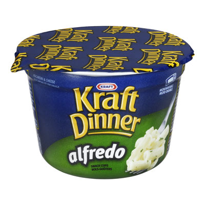 KRAFT DINNER 58 GR DINNERS-DRY  ULTIMATE ALFREDO     1 TUB EACH