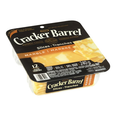 CRACKER BARREL Marble Cheddar Natural Cheese Slices
