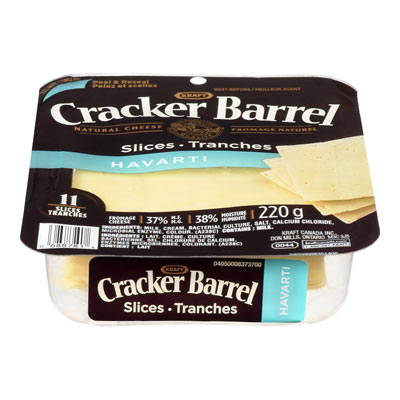 CRACKER BARREL Havarti Natural Cheese Slices