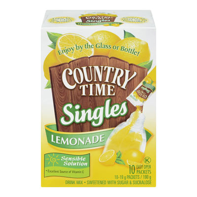 COUNTRY TIME Lemonade Singles