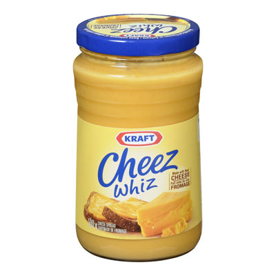 CHEEZ WHIZ 500 GR PROCESSED CHEESE-SPREAD       1 JAR EACH