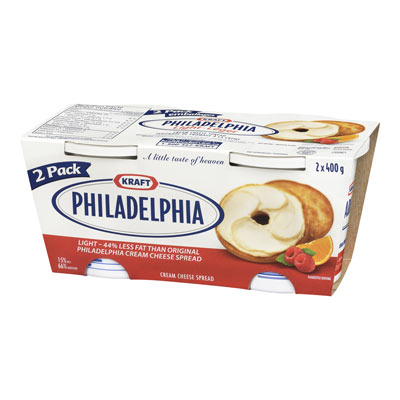 PHILADELPHIA 800 GR CREAM CHEESE-SOFT LIGHT      1 TUB EACH