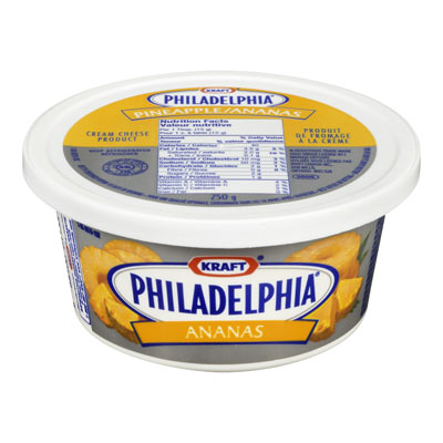 PHILADELPHIA 250 GR CREAM CHEESE-SOFT PINEAPPLE EACH