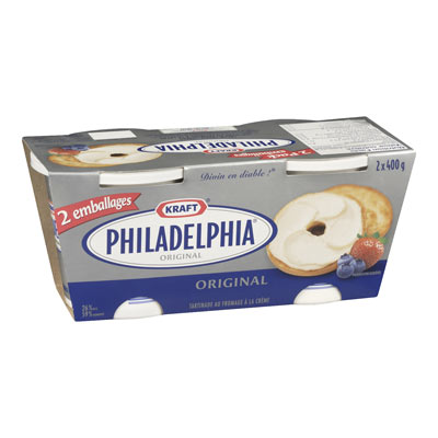PHILADELPHIA 800 GR CREAM CHEESE-SOFT FULL FAT      1 TUB EACH