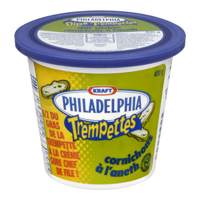 PHILADELPHIA 400 GR DIPS CREAM CHEESE-DIP DILL EACH