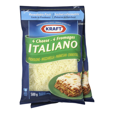 KRAFT 4-Cheese Italiano Shredded Cheese