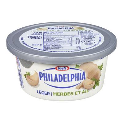 PHILADELPHIA Herb and Garlic Light Cream Cheese Product