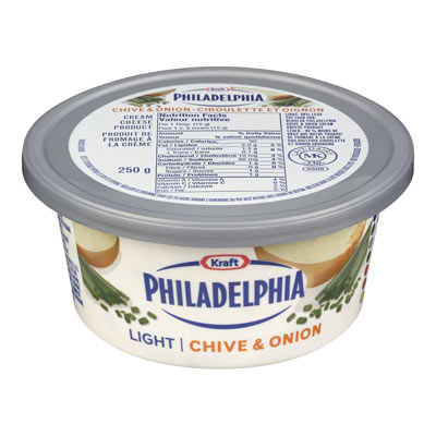 PHILADELPHIA 250 GR CREAM CHEESE LIGHT CHIVE AND ONION EACH