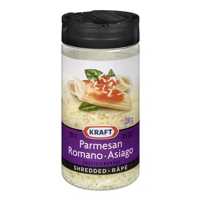KRAFT Parmesan, Romano and Asiago Shredded Cheese