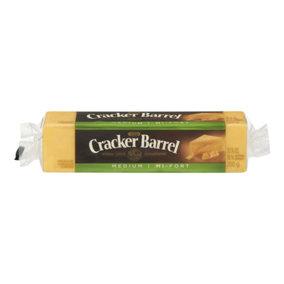 CRACKER BARREL Fromage Cheddar mi-fort 200�g