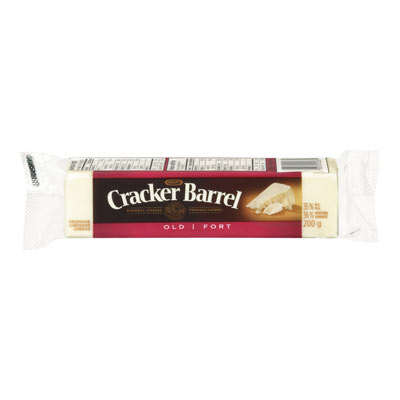 CRACKER BARREL 200 GR NATURAL CHEESE-BARS OLD CHEDDAR WHITE EACH